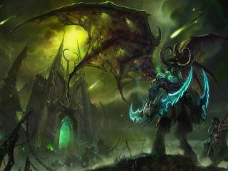 illidan stormrage, lord of outland, black temple wallpaper