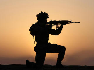 Indian Army Soldier With Gun wallpaper