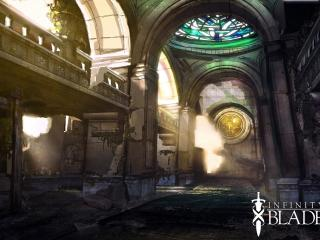 infinity blade 2, cathedral, light wallpaper