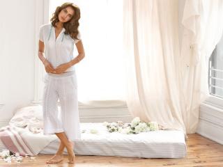 HD Wallpaper | Background Image Irina Shayk On Bed Pics