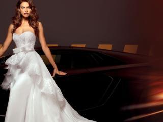 Irina Shayk Wedding Dress With Car wallpaper