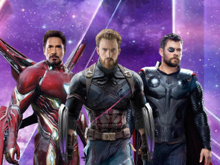 Iron Man Captain America Thor in Avengers Infinity War wallpaper