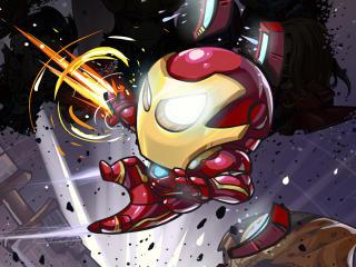 Iron Man Cartoon Marvel Art wallpaper