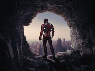 Iron Man Cave 4K wallpaper