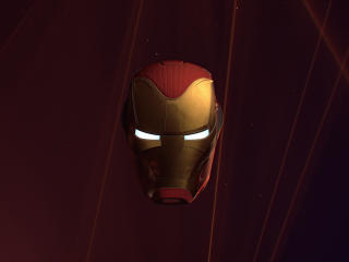 Iron Man Helmet Glowing Eyes wallpaper