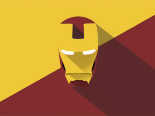 Iron Man Mask Minimal wallpaper