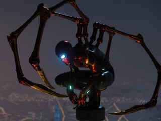 Iron Spider in Spider-Man PS4 wallpaper
