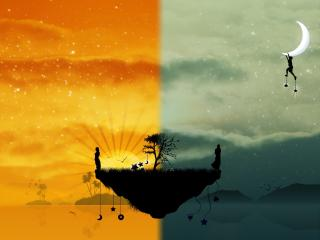 island, tree, worlds wallpaper