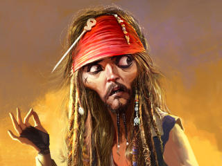 Jack Sparrow Pirates Of The Caribbean Funny wallpaper