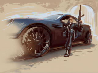 James Bond Art wallpaper