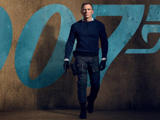 James Bond No Time to Die 4K wallpaper