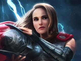 Jane Foster Art Thor Love And Thunder wallpaper