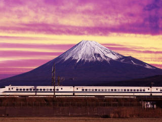 Japan Bullet Train View wallpaper