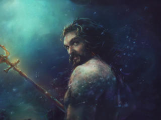 Jason Momoa Aquaman Art wallpaper