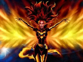 Jean Gray In Dark Phoenix Comic wallpaper