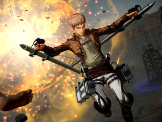 Jean Thunder Spear Attack on Titan 2 wallpaper