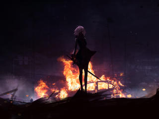 Jeanne d'Arc Alter Fire wallpaper