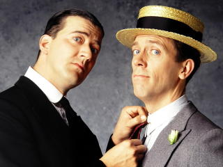 jeeves and wooster, hugh laurie, stephen fry wallpaper