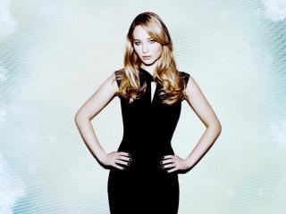 Jennifer Lawrence in black dress wallpaper wallpaper