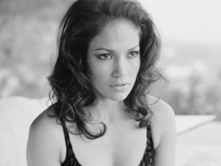 Jennifer Lopez Black and White Portrait wallpapers wallpaper