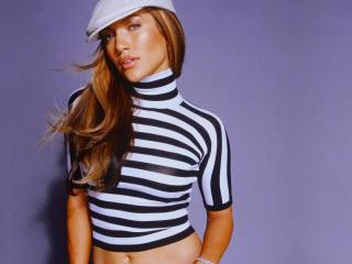 Jennifer Lopez Hot Striped Top wallpaper wallpaper