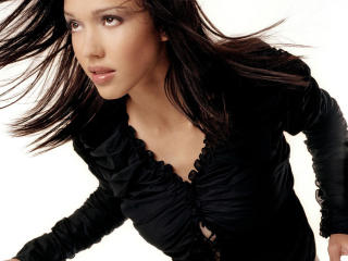 Jessica Alba Straight Hairstyle wallpapers wallpaper