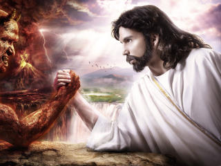 Jesus vs Demon wallpaper