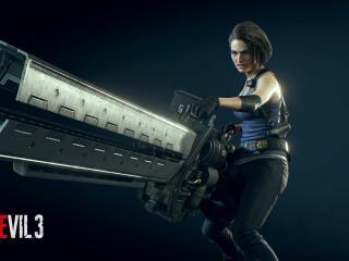 Jill Valentine with Gun Resident Evil 3 wallpaper