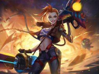 Jinx League Of Legends Warrior wallpaper