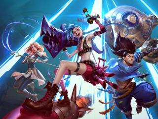 Jinx Lux Yasuo Team League Of Legends wallpaper