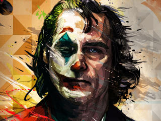 Joaquin Phoenix Joker Artistic wallpaper
