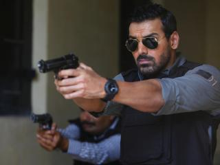 John Abraham With Gun wallpaper