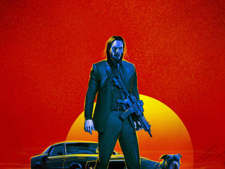 John Wick 3 2019 Art wallpaper