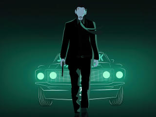 John Wick Chapter 4 Art wallpaper