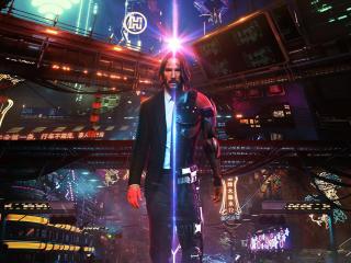 John Wick Cyberpunk wallpaper