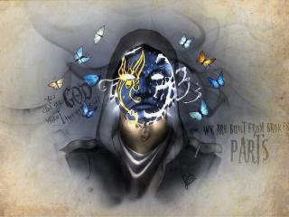 Johnny 3 Tears Hollywood Undead Art wallpaper