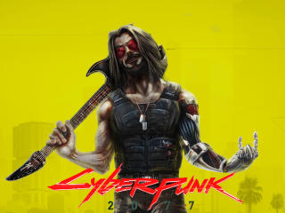Johnny Silverhand aka Keanu Reeves In Cyberpunk 2077 wallpaper