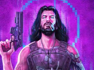 Johnny Silverhand Cool Cyberpunk wallpaper
