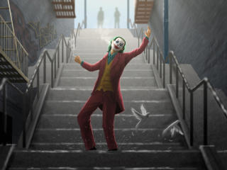 Joker Dance On Stairs wallpaper