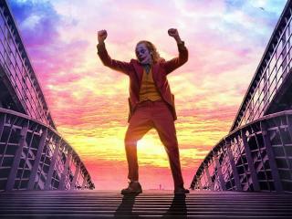 Joker Dancing On Stairs wallpaper
