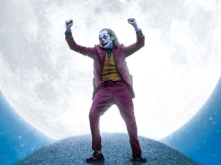 Joker Dancing on the Moon wallpaper