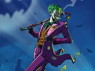 Joker DC Comic Digital 4K wallpaper