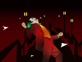 Joker Happy Dance Art wallpaper