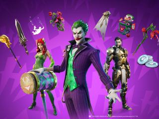 Joker Midas Rex and Poison Ivy Fortnite wallpaper