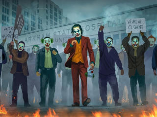 Joker We Are All Clowns wallpaper