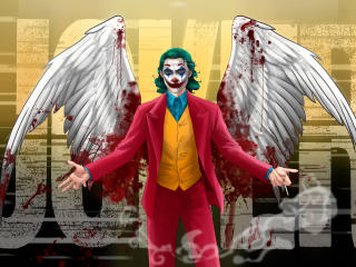Joker with Bloody Wings wallpaper