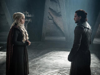 Jon Snow And Daenerys Targaryen Meet wallpaper