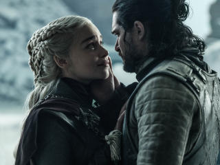 HD Wallpaper | Background Image Jon Snow Daenerys Targaryen Last Scene