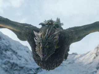 Jon Snow Flying Dragon image