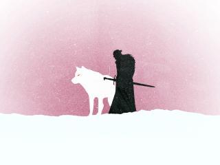 Jon Snow Game Of Thrones Minimalism wallpaper